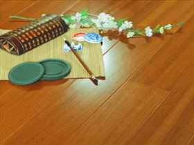 腺瘤豆实木地板 柚木色标板地板