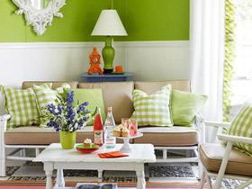黄色+绿色 搭建清新自然家