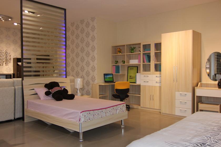 卧室书房一体效果图图片