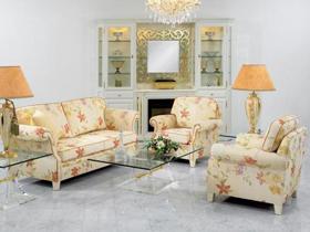 永不凋零的花 客厅布艺沙发