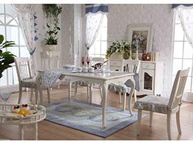 7种白色餐桌椅  简约时尚
