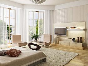 甜凈的客廳中 白色的墻面中和家具的冷酷