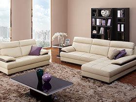 温馨客厅皮沙发  高贵典雅