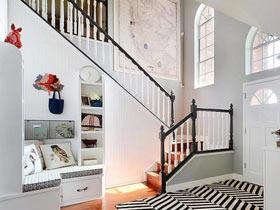 豐富空間層次 15個唯美美式樓梯