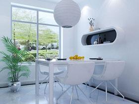 典雅白色简洁餐厅
