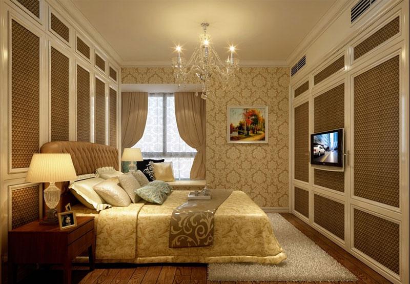 卧室飘窗窗帘图片大全 时尚优雅