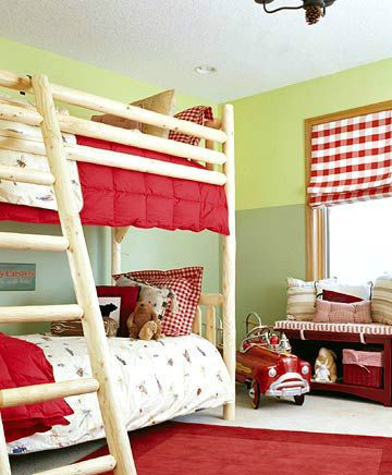 可爱白色儿童房儿童床效果图