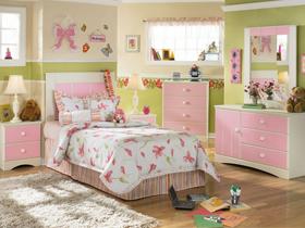 可爱与唯美的粉色套房床