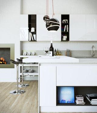 厨房吧台装修效果图大全2013图片
