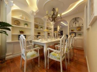 欧式风格时尚黄色餐厅吊顶设计图
