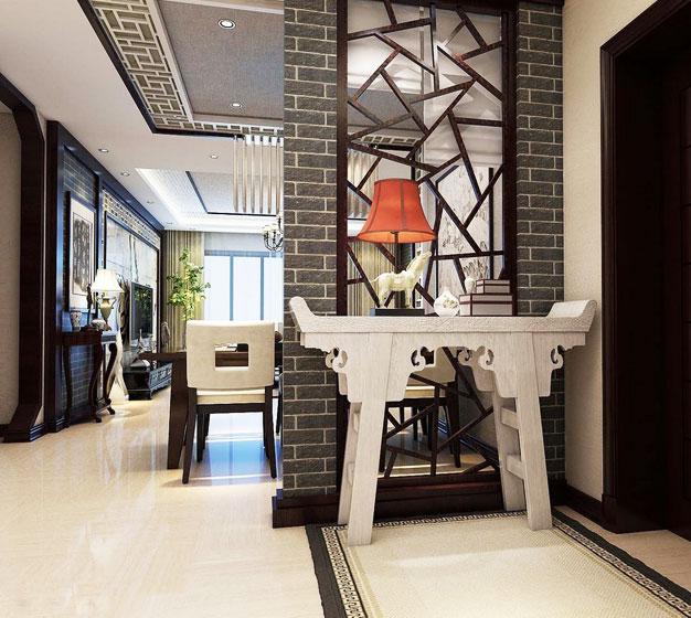 中式风格稳重玄关改造