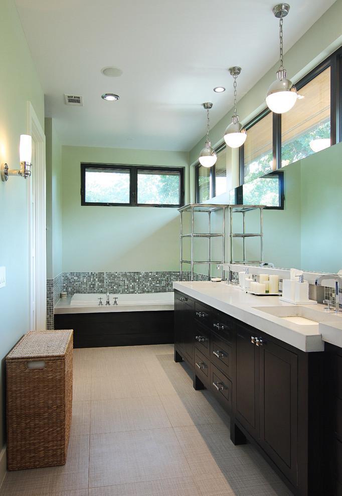 中式风格时尚绿色卫生间装修效果图