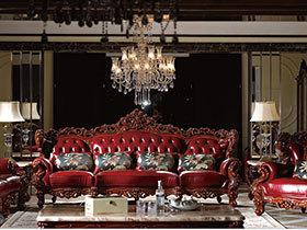 奢华欧式家具效果图  色调深沉但奢华非常