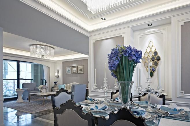 新古典风格三居室舒适130平米装修效果图