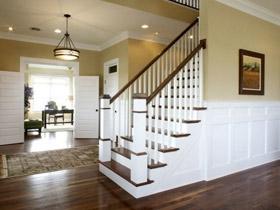 實木襯出美式優雅 17個實木扶手樓梯
