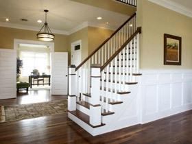 实木衬出美式优雅 17个实木扶手楼梯