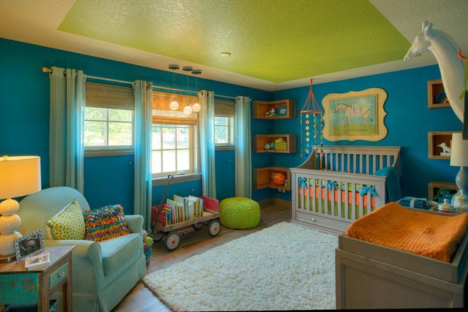 地中海风格可爱儿童房家具图片