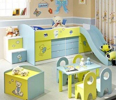 地中海风格可爱儿童房家具效果图