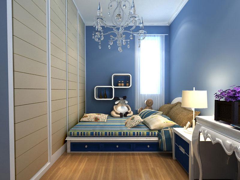 欧式风格可爱儿童房设计图纸_齐家网装修效果图
