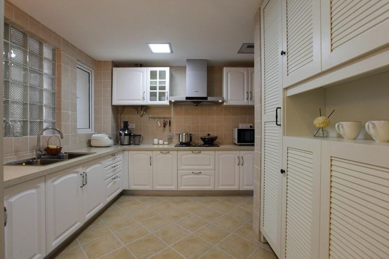 美式风格二居室小清新90平米厨房装潢
