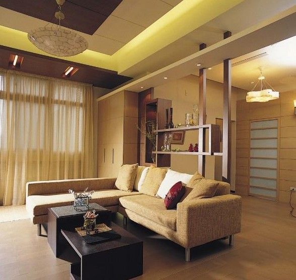 中式风格时尚客厅吊顶效果图
