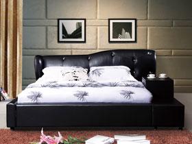 7款深色皮艺床 卧室也能很性感