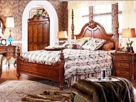实木美式床推荐 8图显稳重大气