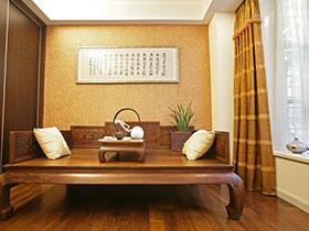 15款客廳飄窗設計  感受古典中式風