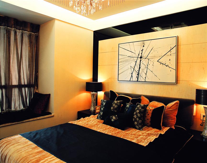 中式风格古典卧室飘窗效果图