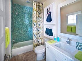 精致小户型 16种美式小卫浴间欣赏