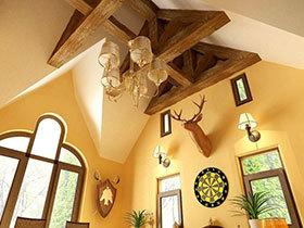20款原木吊顶设计 亲近大自然之选