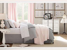 要可愛但更要舒適 17款美式兒童房的家紡設計