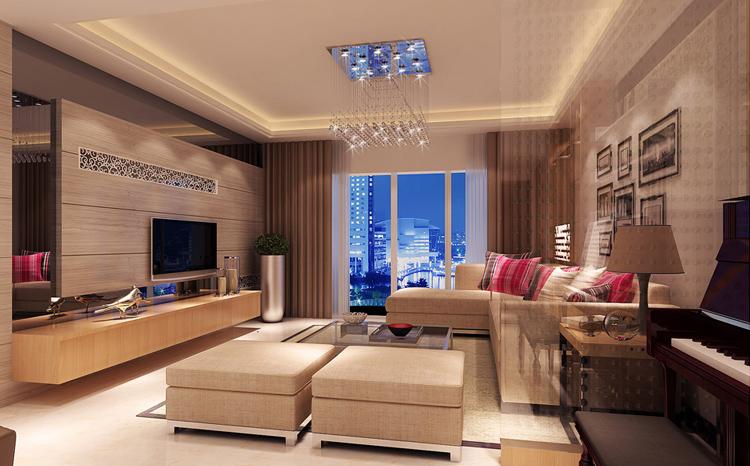 现代简约风格 120平 三居室