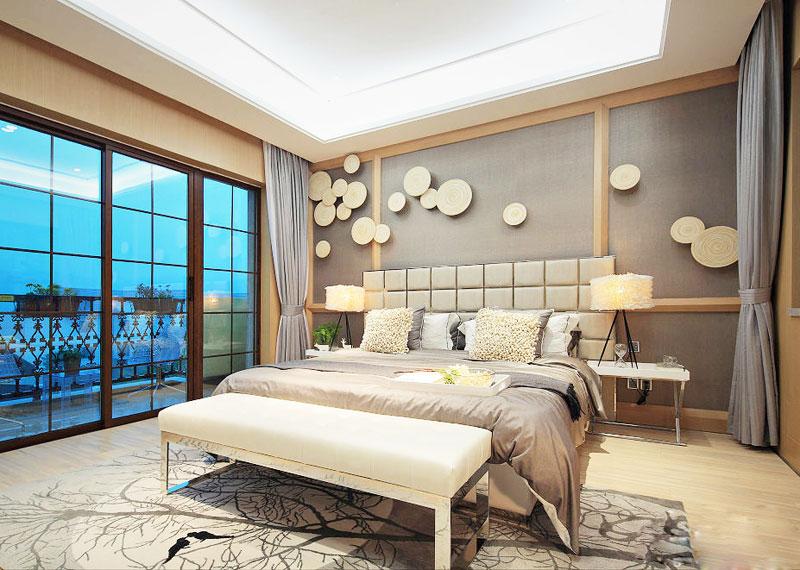 美式风格大气卧室卧室背景墙装修效果图