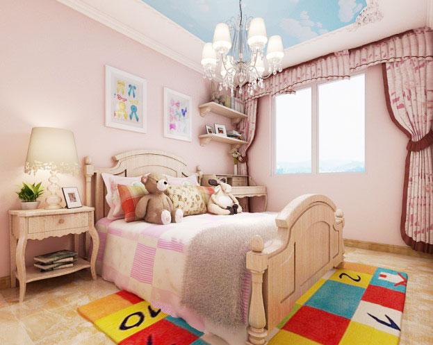 资讯 焦点专题 美式卧室效果图  小户型美式装修效果图  65平米小户型图片