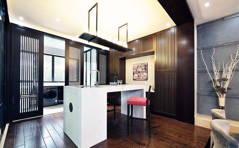 中式风格古典吧台设计图片