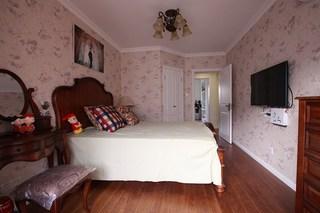 混搭风格一室一厅温馨卧室吊顶旧房改造平面图