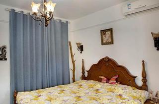 地中海风格三居室小清新卧室设计图
