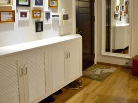 让家保持干净整洁 16款白色简约鞋柜