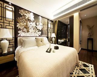 中式风格大气卧室效果图