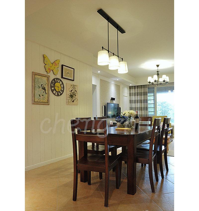 0平米混搭公寓装修效果图,98平公寓时尚清新混搭风装修案例效果高清图片