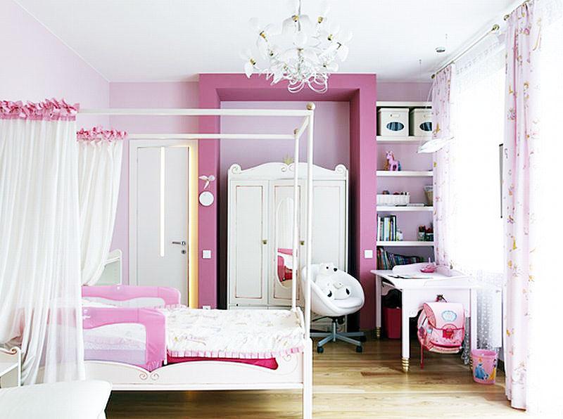 田园风格小清新粉色卧室设计