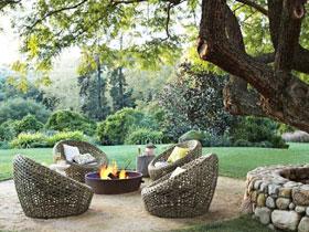 14圖花園設計圖 大樹下的花園休息區