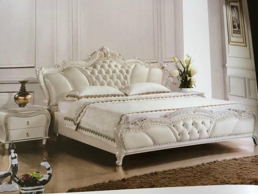 欧式风格大气板式床图片