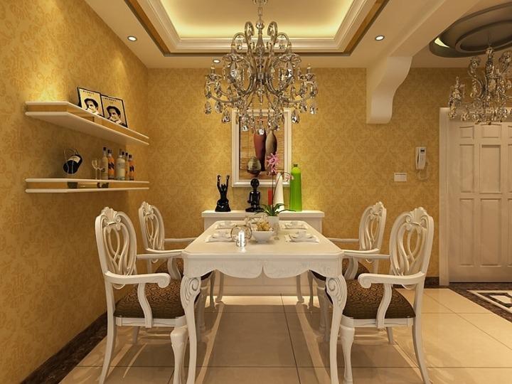 欧式风格白色餐桌效果图