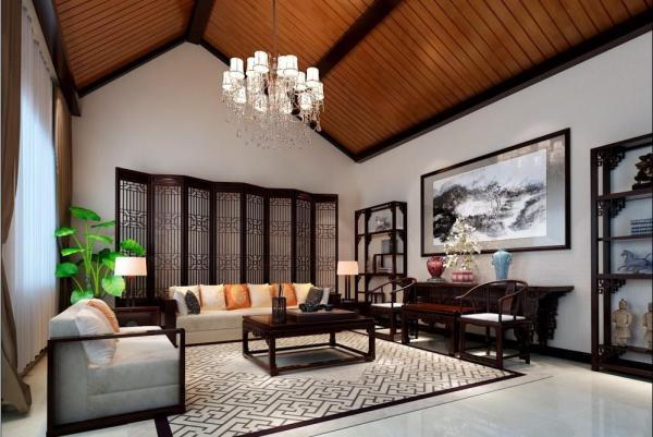 中式风格客厅茶几图片