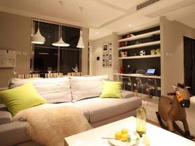 现代美式打造品味三居室装修 富含书香味的家