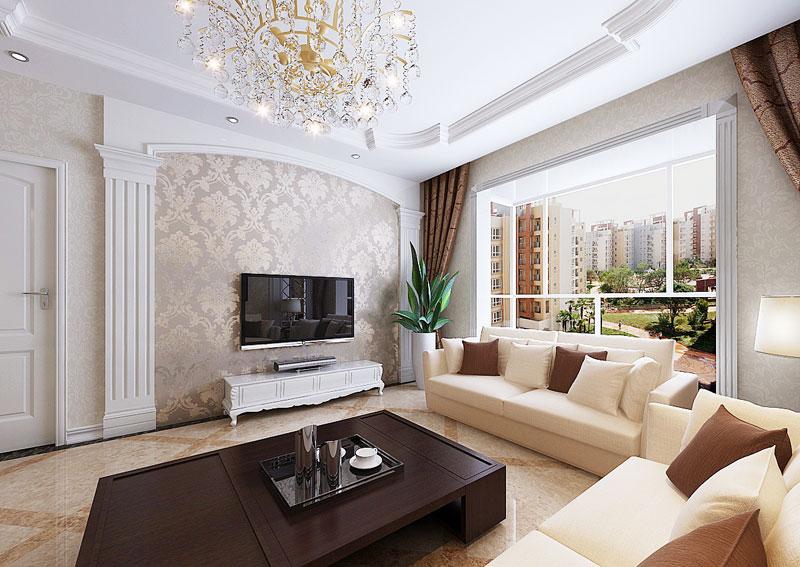 现代简约电视背景墙装修效果图 大气电视背景墙设计