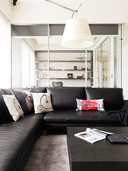 现代简约风格客厅客厅灯效果图