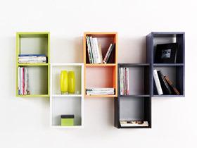 10款壁挂式书架图片 小户型节省空间妙法